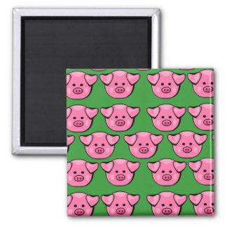 Cute Pink Piggies Magnet
