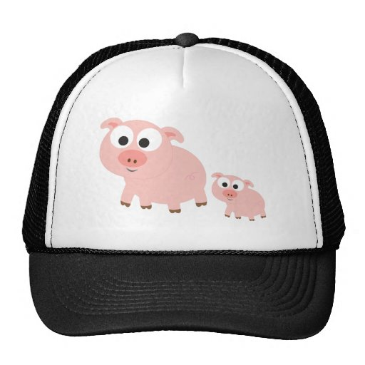 Cute Pink Pigs Hats
