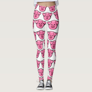 Cute Pink Pigs Leggings
