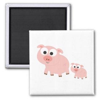 Cute Pink Pigs Refrigerator Magnet
