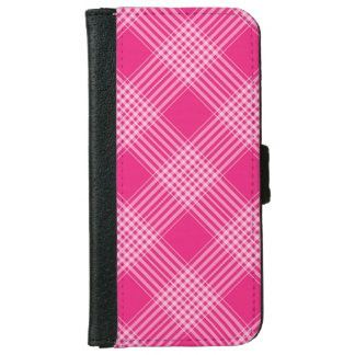 cute pink plaid iPhone 6 wallet case