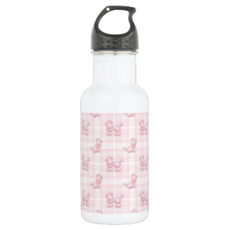 Cute Pink Poodles & Checks 532 Ml Water Bottle