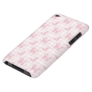 Cute Pink Poodles & Checks Barely There iPod Cover