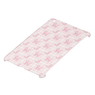 Cute Pink Poodles & Checks iPad Mini Cover