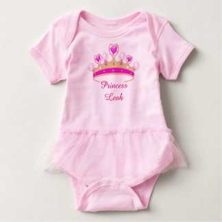 Cute Pink Princess Baby Girl Tutu Bodysuit