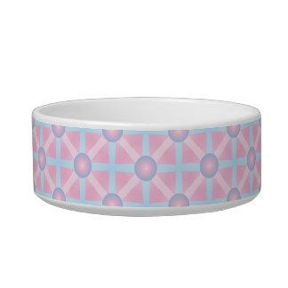 Cute Pink, Purple & Light Blue Pattern Bowl