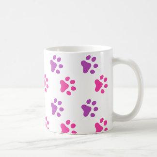 Cute Pink/Purple Paw Prints Mug