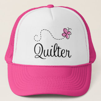 Cute Pink Quilter Gift Trucker Hat
