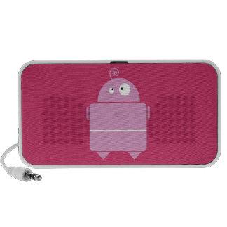 Cute Pink Robot Doodle Speakers