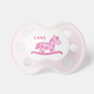 Cute Pink Rocking Horse Name Dummy