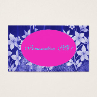 Cute Pink Save-the-Date Floral Girly Blue/White