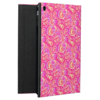 Cute pink seamless paisley look iPad air cases