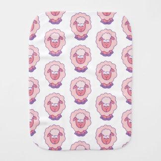 Cute Pink Sheep Burp Cloth