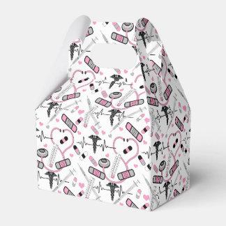 Cute Pink Shot Needles Nurse | Doctor EKG Pattern Favour Box