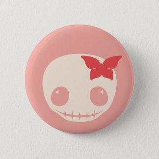 Cute Pink Skull 6 Cm Round Badge