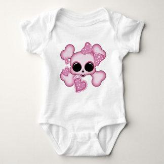 Cute Pink Skull Baby Bodysuit