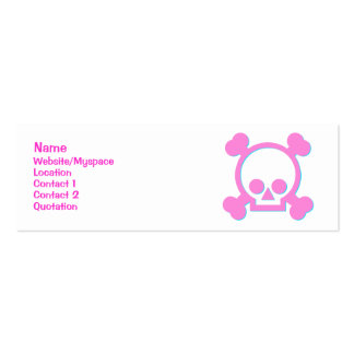 Cute Pink Skull Business Cards