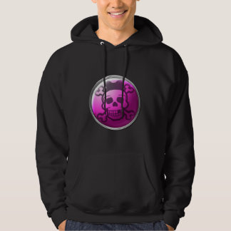 Cute Pink Skull Button Hoodies