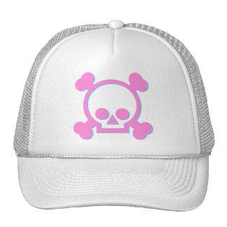 Cute Pink Skull Cap
