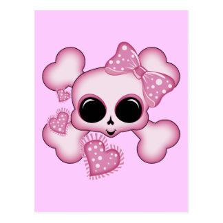Cute Pink Skull Postcard