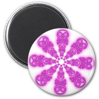 Cute Pink Skull Star Burst magnet
