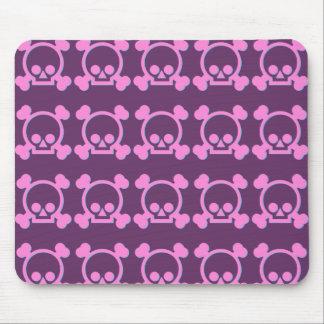 Cute Pink Skulls Mouse Pad