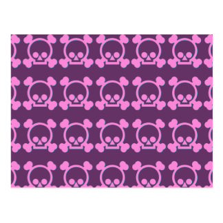 Cute Pink Skulls Postcard