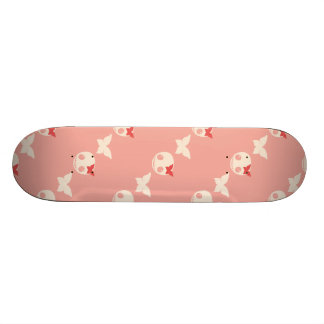 Cute Pink Skulls Skateboard