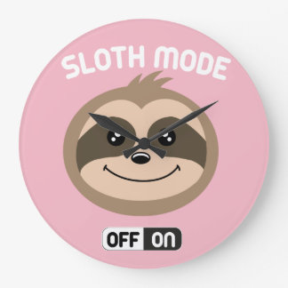 Cute Pink Sloth Mode On Clock