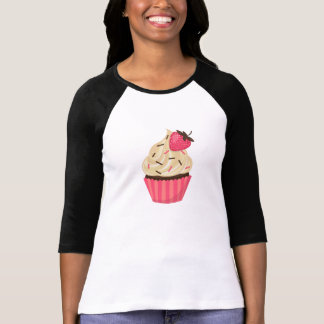 Cute Pink Sprinkles Strawberry Cupcake T-Shirt