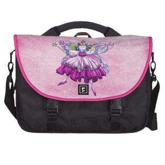 Cute Pink Sugar Plum Fairy Laptop Bag