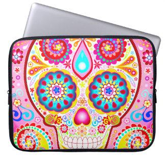 Cute Pink Sugar Skull Laptop Sleeve