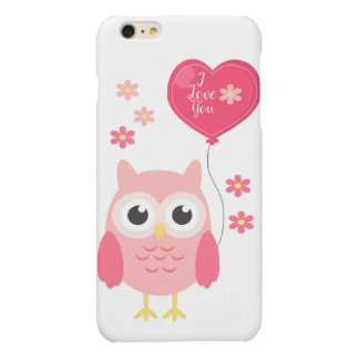 Cute Pink Valentines Owl I Love You