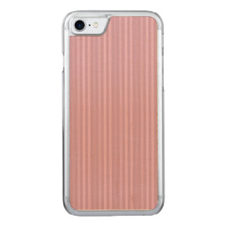 Cute Pink Vertical Stripes Pattern Carved iPhone 7 Case