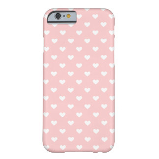 Cute Pink White Heart Pattern Girly iPhone 6 Case
