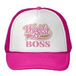Cute Pink Worlds Best Boss Cap