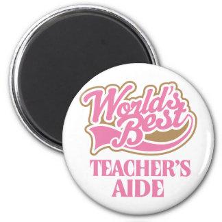 Cute Pink Worlds Best Teachers Aide Fridge Magnet