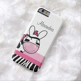 Cute Pink Zebra Print iPhone 6 Case