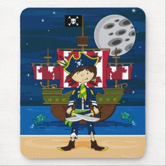 Cute Pirate and Ship Mousepad