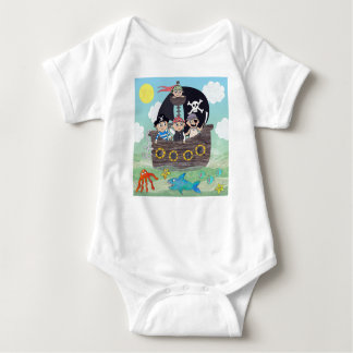 Cute pirate baby grow baby bodysuit
