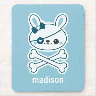Cute Pirate Bunny Mouse Pad