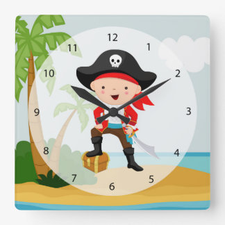 Cute Pirate Clocks