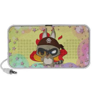 Cute Pirate Funny Cartoon Slingshot Mini Speaker