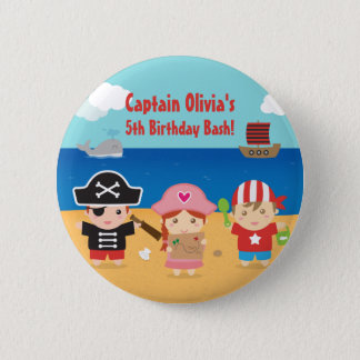 Cute Pirate Themed Kids Birthday Party Favors 6 Cm Round Badge