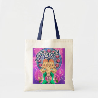 Cute Pisces Zodiac Bag With Two Mermaids