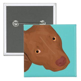 Cute Pit Bull portrait Pinback Button