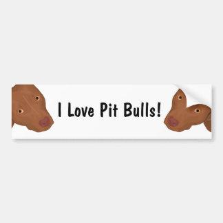Cute Pit Bull portrait Bumper Sticker