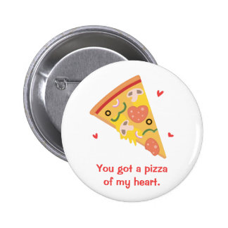 Cute Pizza of my Heart Pun Love Humor 6 Cm Round Badge