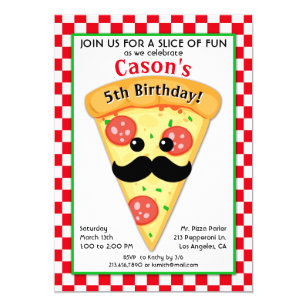 Pizza party invitations announcements zazzle au cute pizza party kids birthday invitation stopboris Choice Image