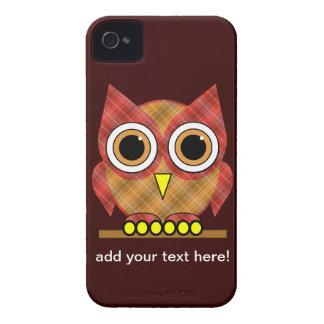 cute plaid owl iPhone 4 covers